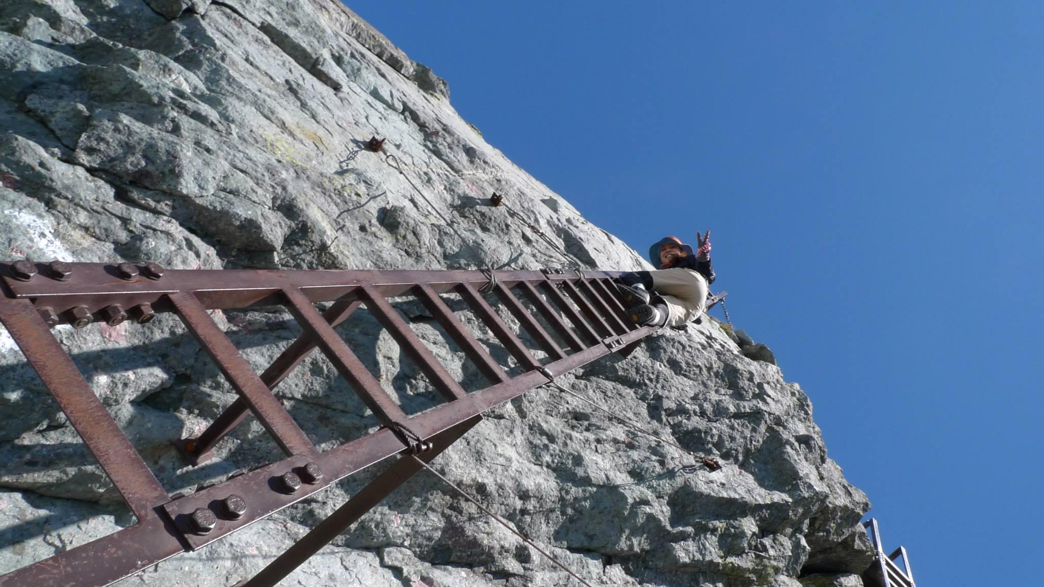 槍ヶ岳最後のはしご