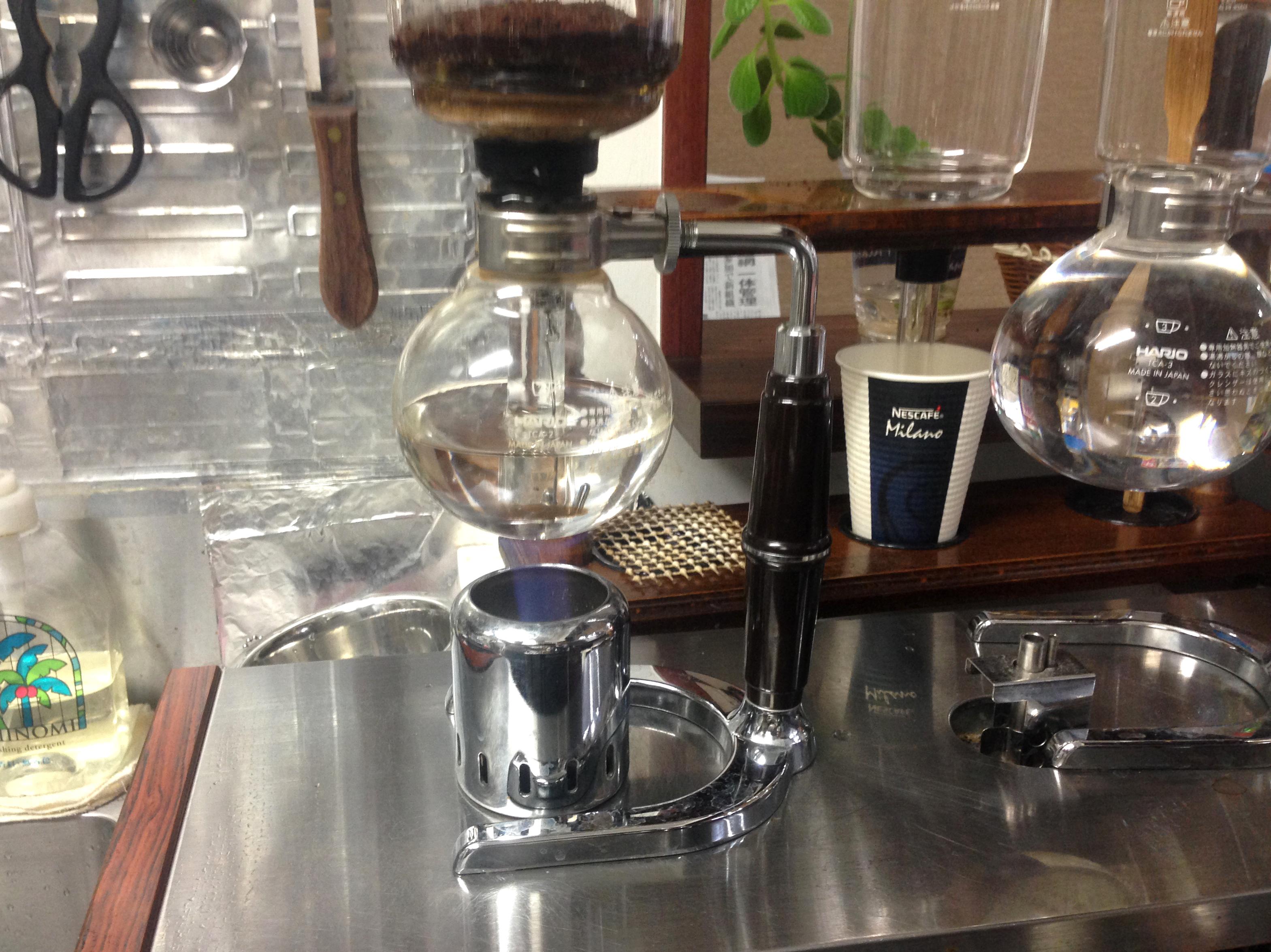 Cafe ALAmiさまサイフォン式コーヒー