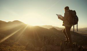 登山、地図、遭難