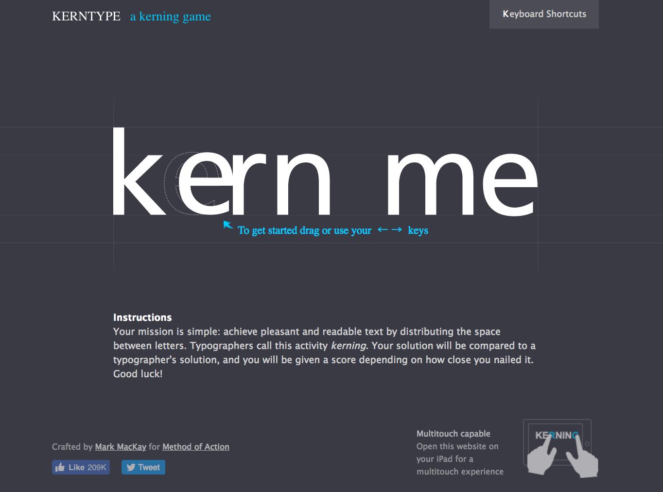 KERNTYPE01字詰め練習サイト